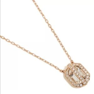 Swarovski Favor Crystal Pendant Rose Gold Necklace